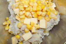 コーンとチーズ入りも作ります