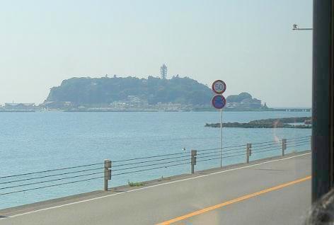 江ノ島が見えた♪