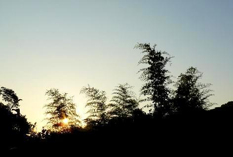 夕日が落ちる・・・