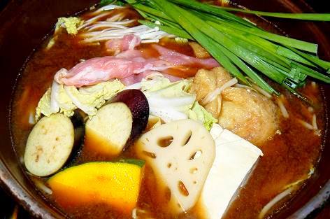 味噌味のスープ
