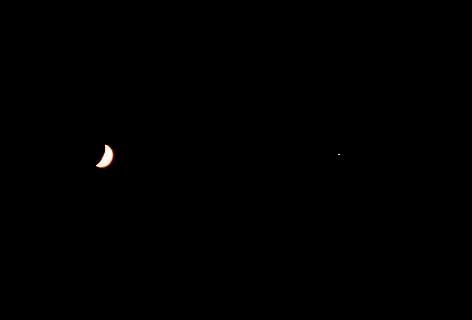 三日月と星♪