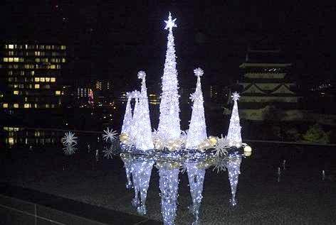 小倉城もクリスマス!?
