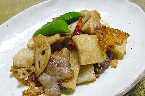 里芋の炒め物♪