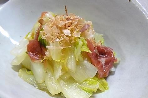 白菜の芯の和え物