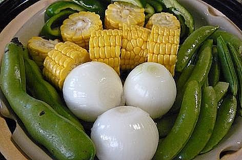 野菜の土鍋蒸し♪