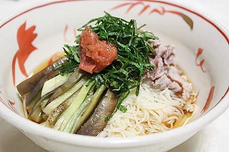 ナス素麺♪