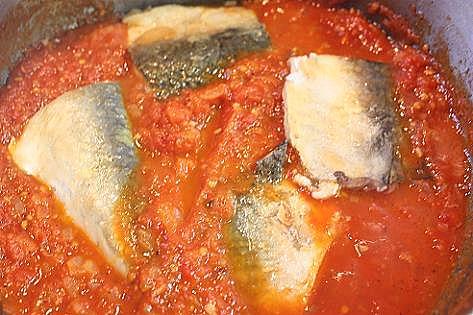 サバのトマト煮♪