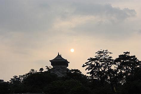 小倉城と夕日♪