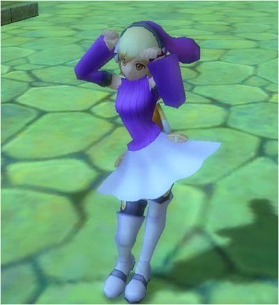 バルサ巫女の紫色