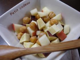 ひよこ豆とさつま林檎のメープルレモン風味