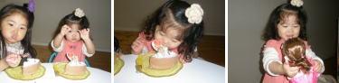 ケーキ・・・実は ぷち。あまり食べないんだけど。