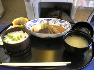 機内の和食