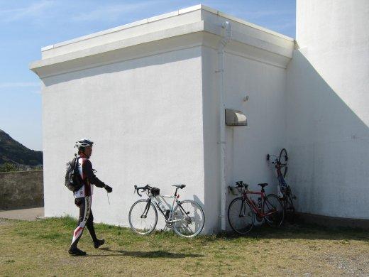 3台の自転車とmasaさん