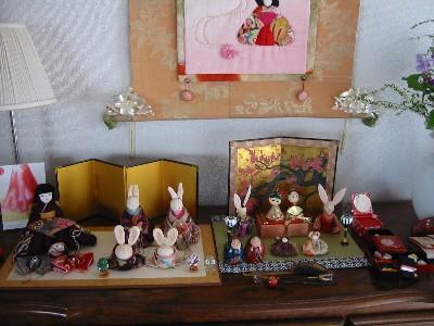 先生宅のディスプレイ(雛祭り)