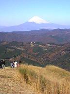大室山からみた富士山