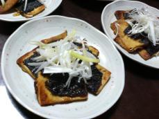 高野豆腐の蒲焼