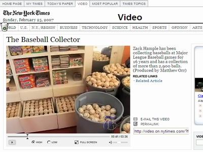 NYT野球のボール
