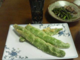 モロッコいんげんの天ぷら