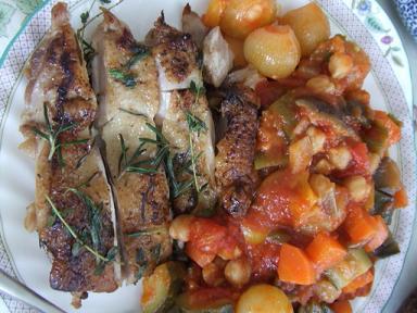 チキンと豆ラタトゥーユ