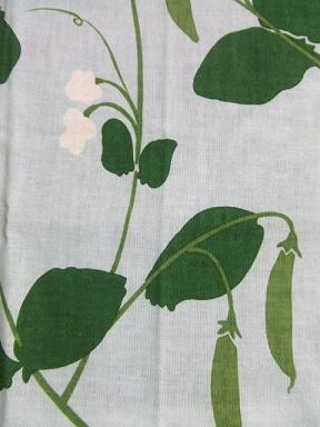 てぬぐい 豆と花