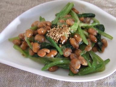 小松菜納豆
