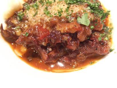 牛の胃袋とレンズ豆の赤ワイン煮UP