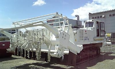 地雷処理重機