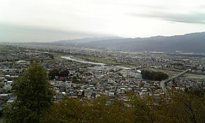 公園から松田市街