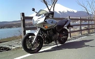 バイクと富士