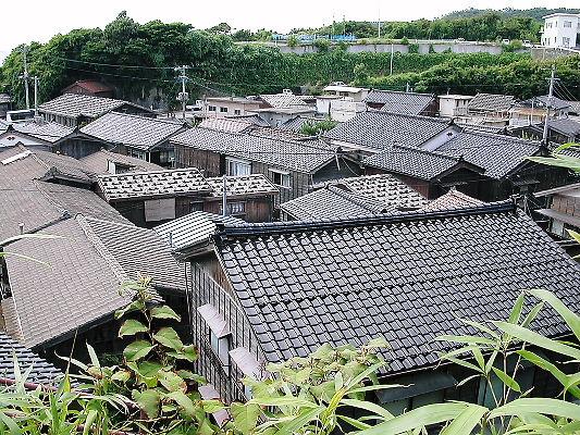 宿根木の屋根