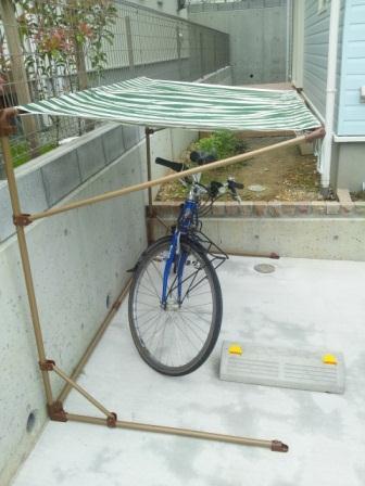 自転車の簡易ガレージ