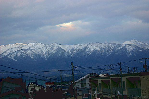 10月30日初雪
