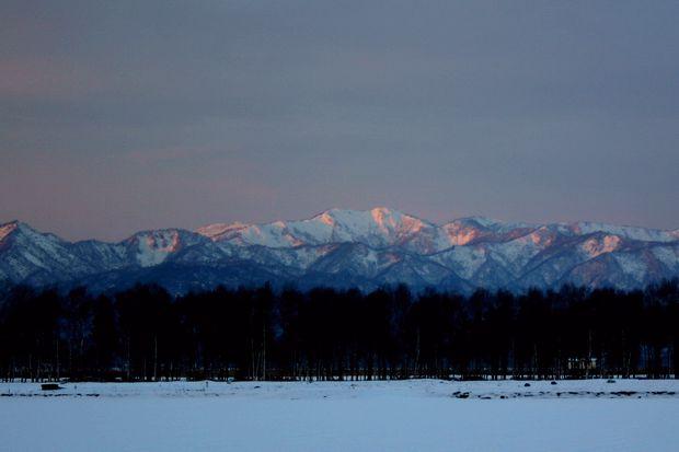 初冬の落日-1