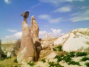 キノコのような奇岩群