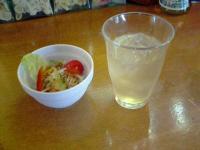パスタランテアップルジュース&サラダ