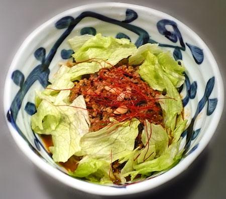 四川風汁なし坦坦麺