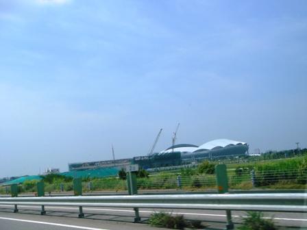 建築中の球場