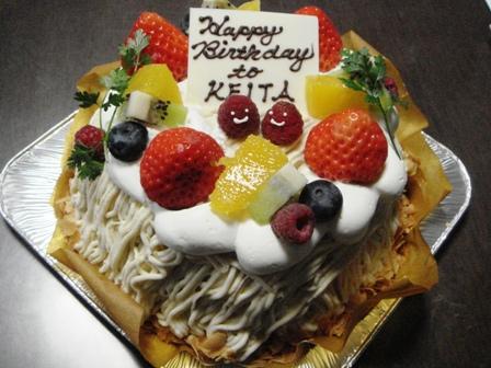 090227.モンブランのBirthday Cake