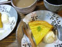 お茶菓子かぼちゃケーキ