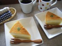 お茶菓子プリンケーキ