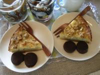 お茶菓子バナナとくるみのケーキ