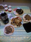 手作り牛丼と餃子