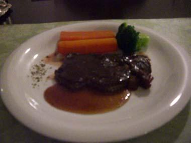 栃木牛のステーキ