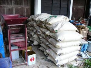 0810-28籾付き玄米のとうみ掛け