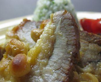 カスレ風豚と大豆のグラタン