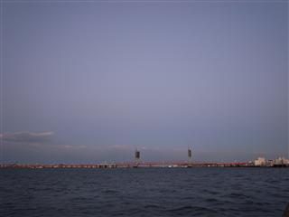 銚子大橋新築中