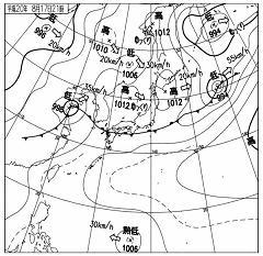 2008年8月17日21時 天気図