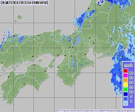 レーダー(気象庁)200901312050-00