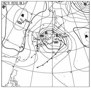 2009年4月26日6時天気図