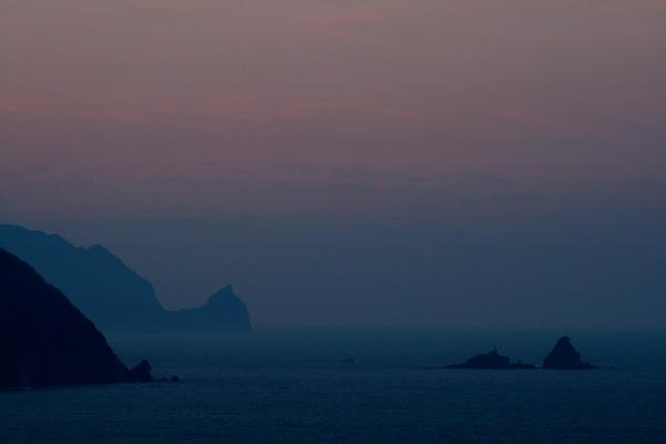 恋人岬の朝